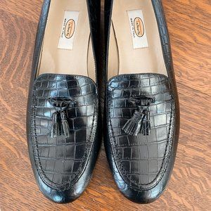 NWOT Talbots Black Leather Loafer with Tassels